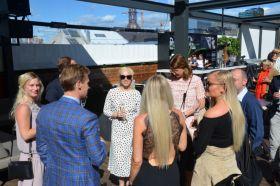Fra HSMAIs sommerfest på Steen & Strøms Taket i Oslo sentrum, tirsdag 20. juni 2017. Fotograf: Ida Øksdal-Korneliussen.