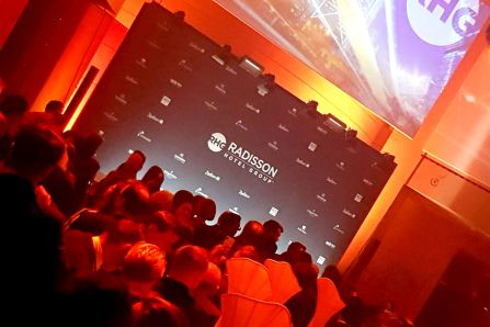 Fra Radisson Hotel Groups event i Berlin onsdag 7. mars 2018.