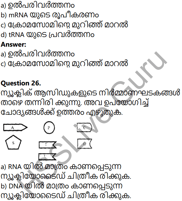 Kerala Syllabus 10th Standard Biology Solutions Chapter 6 Unravelling Genetic Mysteries in Malayalam 76