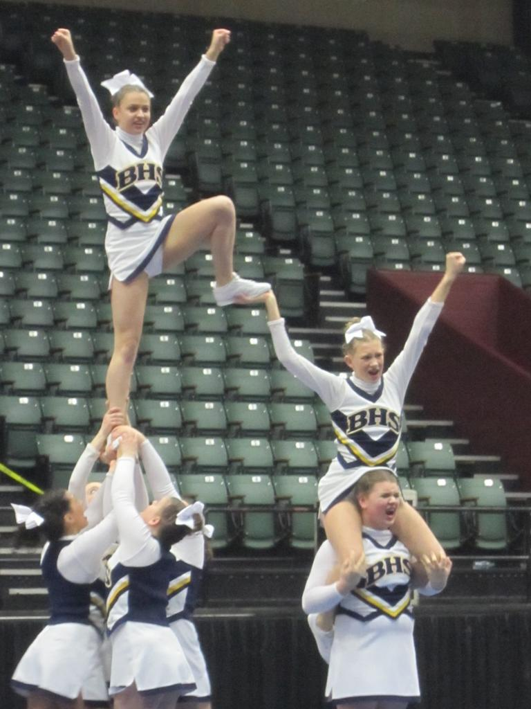 Michigan Center Competitive Cheer Team Edges Merrill For