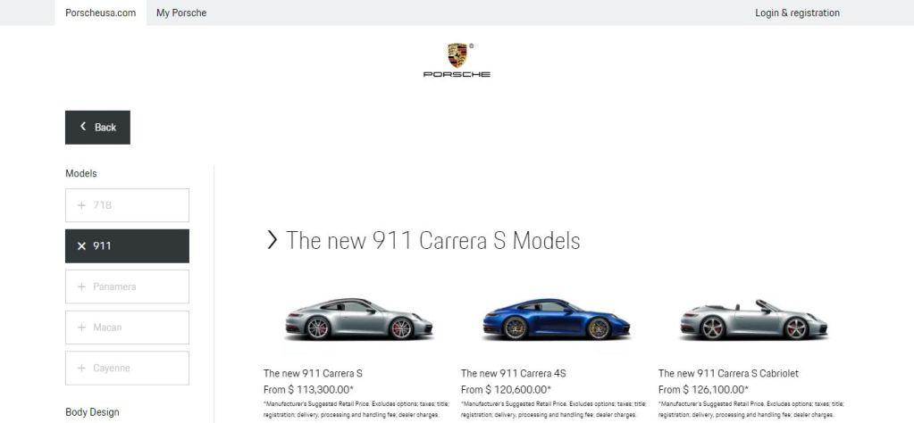Nuevo personalizador online de Porsche
