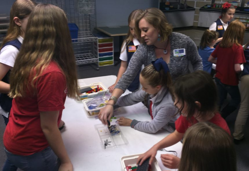 Students and Teacher during a STEM class - image from Hsu Family Educational Founditon