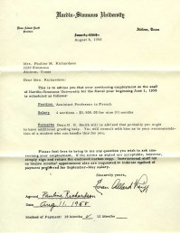 1958 teaching contract
