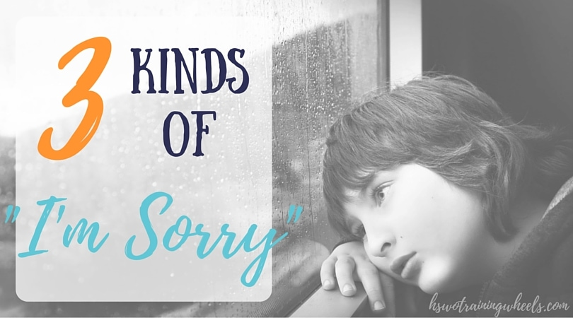 """It is difficult to say """"I'm sorry"""". Teaching our children about the three different kinds of """"I'm sorry"""" can help them understand what they are saying."""