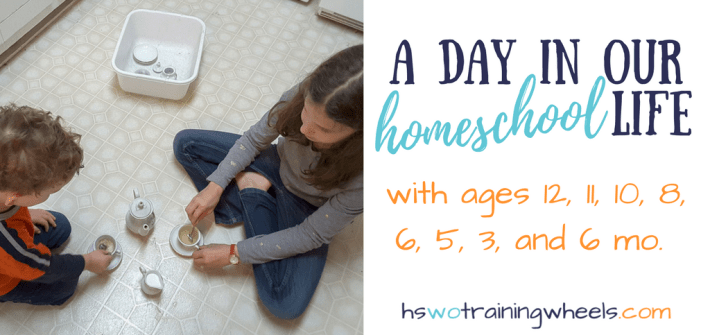 Would you like to know what the homeschool schedule of a large family looks like? Follow us for a day in our life and walk with us through our routine of chores, learning, and play to see how we mange by keeping it simple!