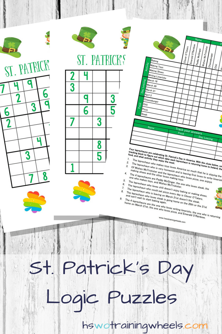 St  Patrick's Day Logic Puzzles | Homeschooling without Training Wheels