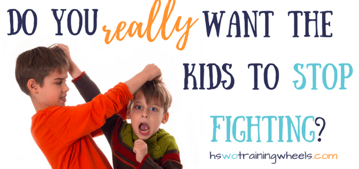It can be so frustrating as a parent to see your children fighting. And perhaps you've wondered (or asked your kids) why the siblings can't just stop fighting! Perhaps you should be careful what you wish for.