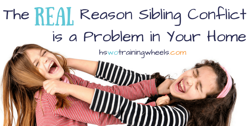Do you have a problem with sibling conflict in your home? Do you know why it's a problem? You might think that it's the fighting that's the problem. But then you'd be missing something big. THIS is the actual problem with the sibling conflict in your home.