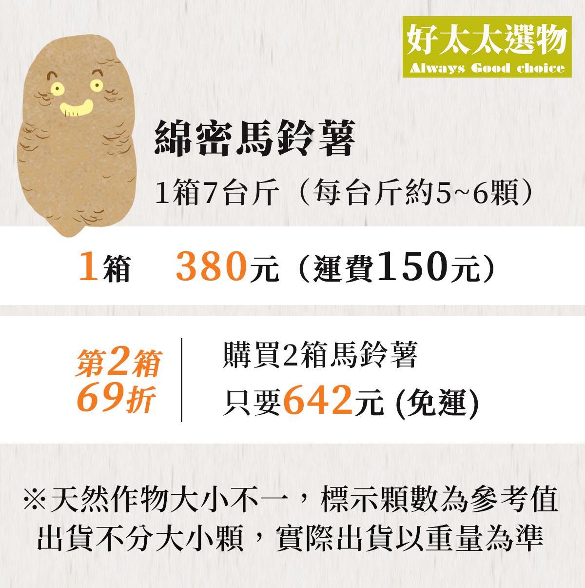 馬鈴薯價格方案