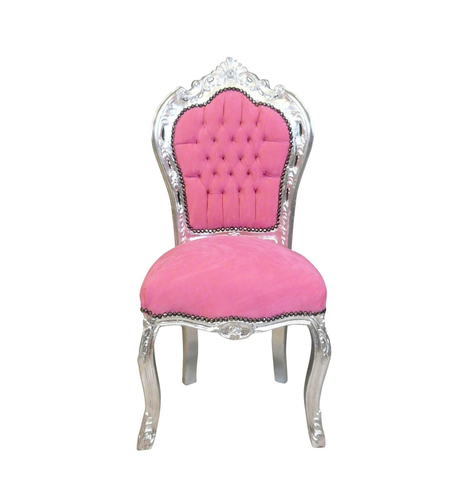 Chaise Baroque Rose Et Argent Fauteuil Et Meubles De Style