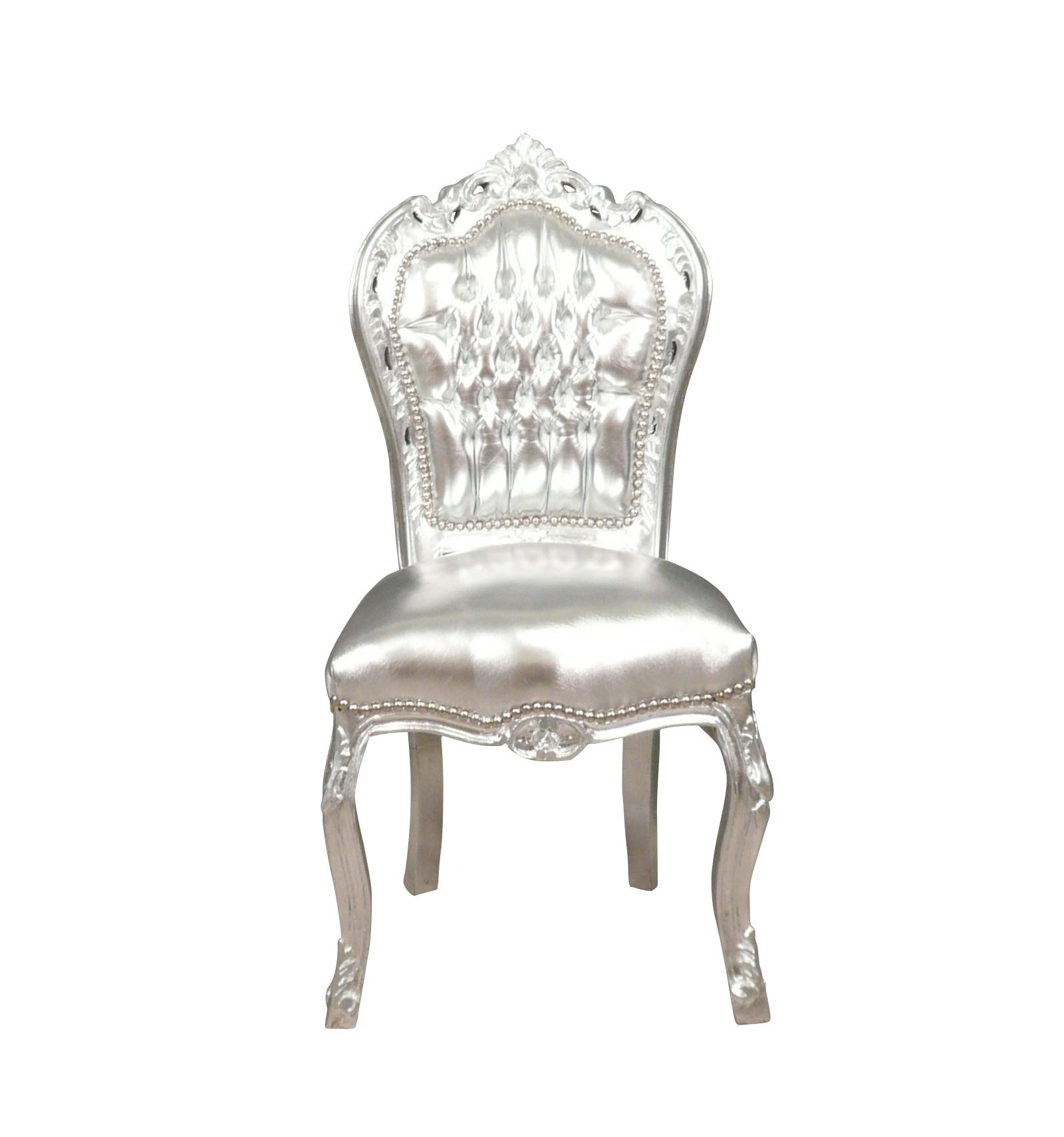 chaise baroque argentee