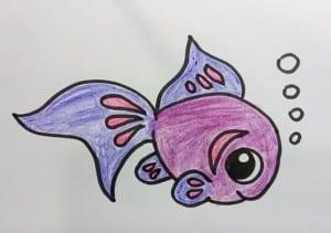 How To Draw Cute Cartoon Fish Easy