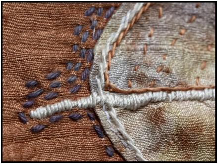 little stitchings - leaf detail