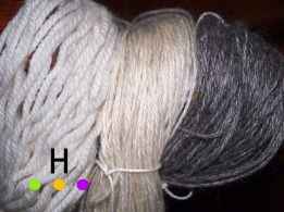 undyed wool yarn