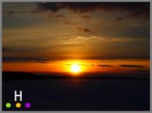 snowy sunset over lake isle, alberta, canada