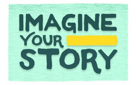 "Logo for ""Imagine Your Story"""