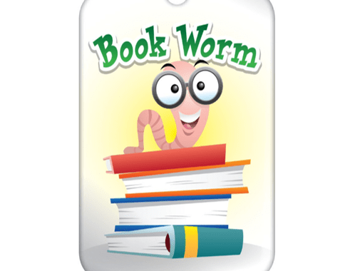 "Teen Summer Reading Brag Tag - ""Book Worm"""