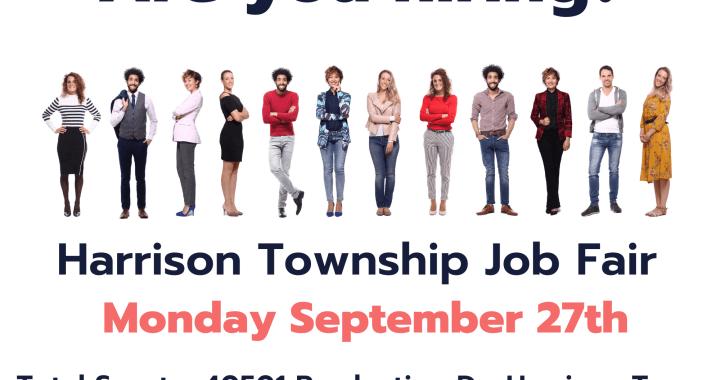 Join tarrison Towhnship Job FairFAir
