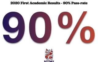 2020 First Academic Results - 90% Pass-rate