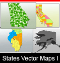 United States Vector Maps First Bundle