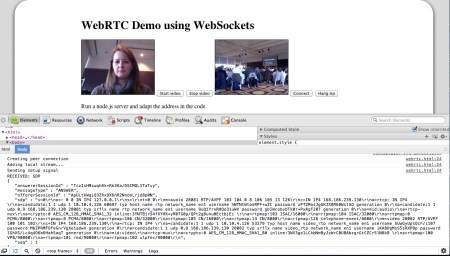 Video Conferencing in HTML5: WebRTC via Web Sockets | ginger's thoughts