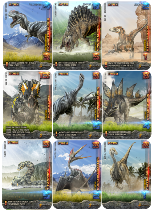 Apex theropod cards