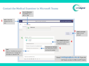 Microsoft Teams and MedXNote bot automates common tasks for UHS