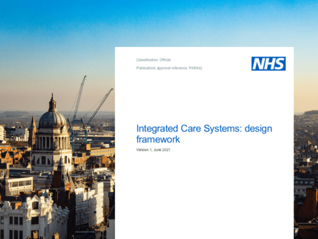 Data and digital standards forms part of NHSE Integrated Care Systems design framework