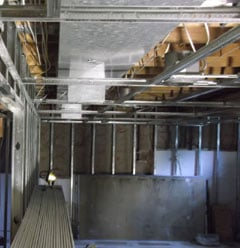 Seattle Basement Remodel Suspended Ceiling