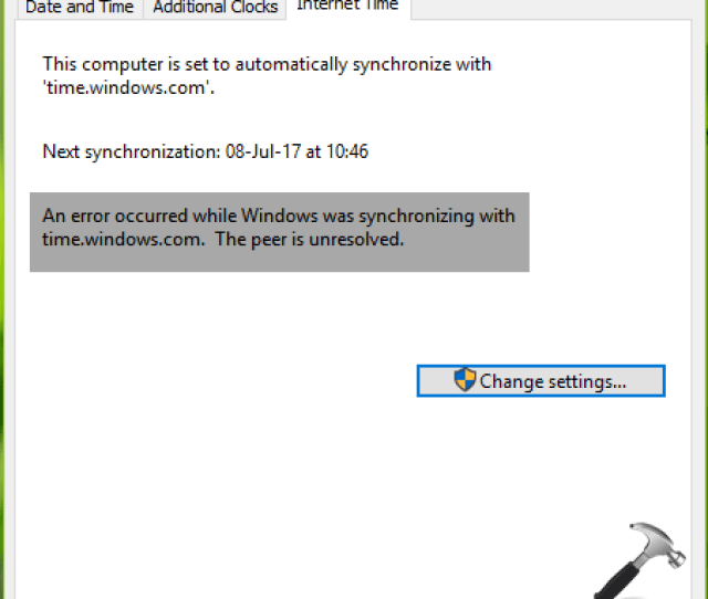 An Error Occurred While Windows Was Synchronizing With Time Windows Com Windows 10