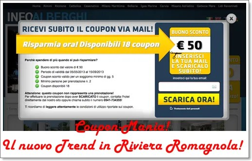 E' Coupon-mania in Riviera Romagnola !