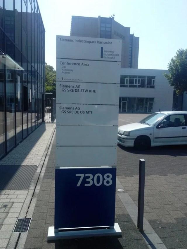 Meeting point : Karlsruhe Siemens Industriepark