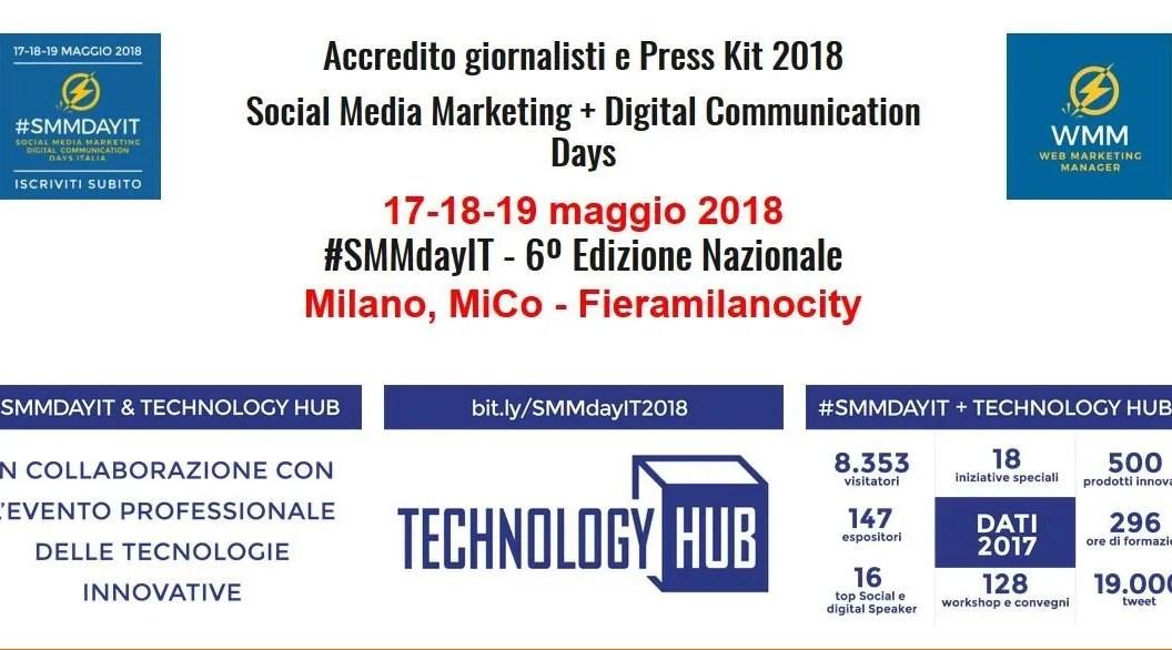 SMMDayIT 2018 – torna a Milano il 17-18-19 Maggio