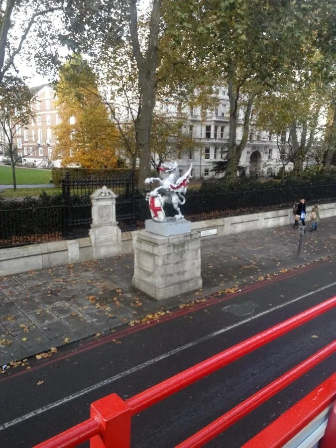Statua del Drago - punto di confine tra la città di Londra e lo stato di Westminster