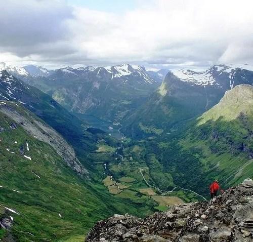 Vista dal Monte Dalsnibba