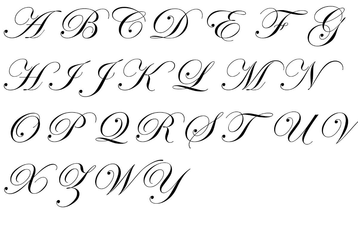 Alphabet Letters Cursive Font