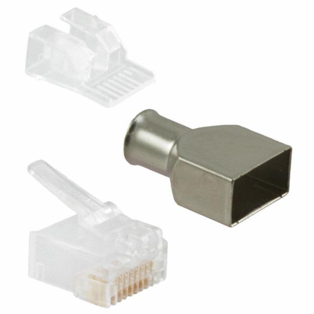50 Plug Rj45 Cat6 Amp Original Para Cable Utp Ftp Stp