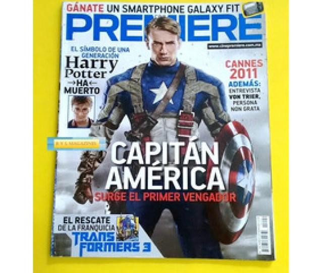 Chris Evans Revista Cine Premiere 2011 Capitan America