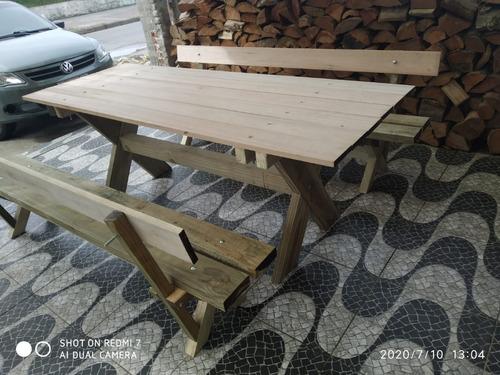 mesa para patio de madera