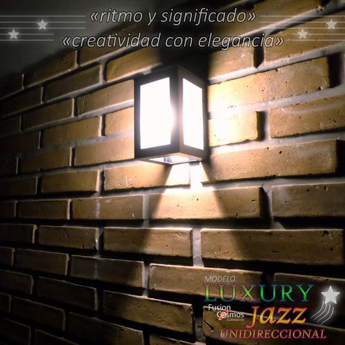 difusor unidireccional 20 luces para pared de patio exterior