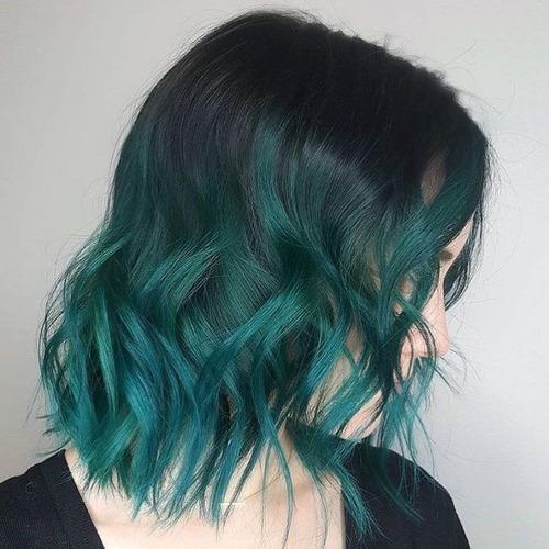 Tintas Para Cabelo Verde Esmeralda Hair Style | Mercado Livre