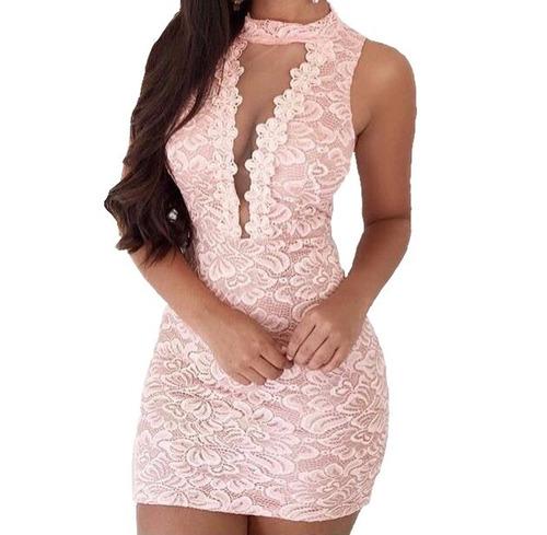 Vestido Curto Decotado Tule Guipir Festa Feminino #vc22 | Mercado Livre