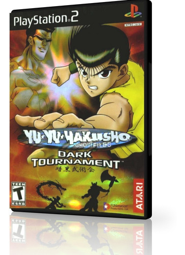 yu yu hakusho dark tournament para ps2 brinde poster ades