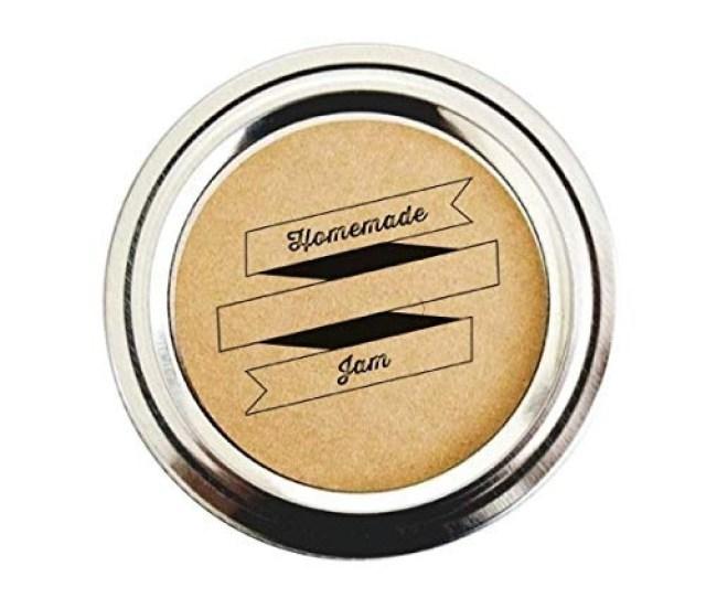 Homemade Jam Jar Etiquetas Con Retro Cinta Por Once Upon Sum 1712 00 En Mercado Libre