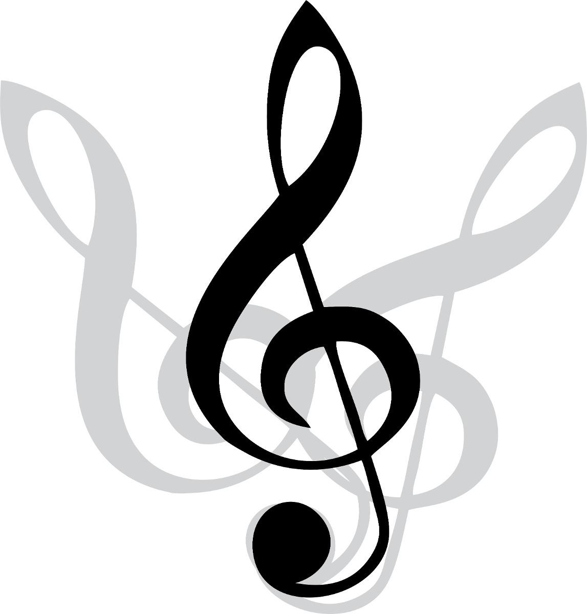 Adesivo Decorativo Clave Sol Musica Rock Papel Parede