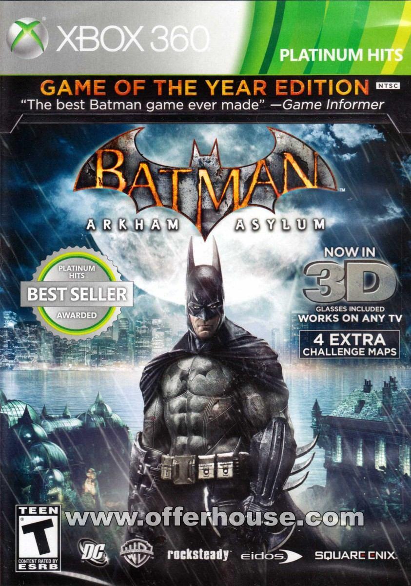 Batman Arkham Asylum Platinum Hits Xbox 360 Nuevo 499