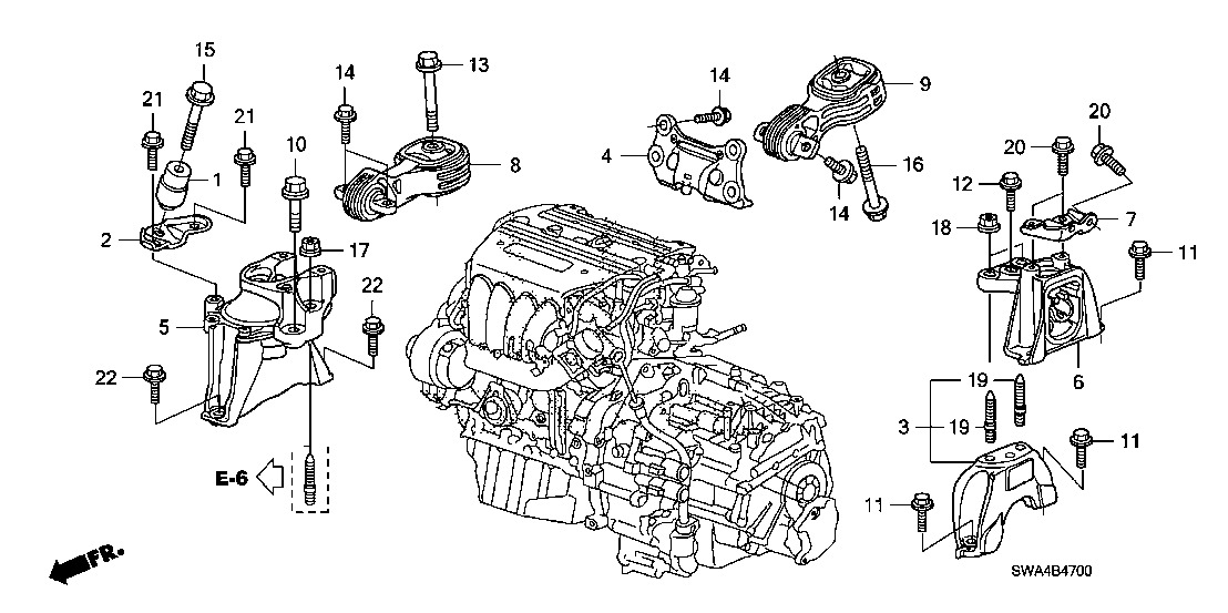 2007 Honda Civic Engine Diagram
