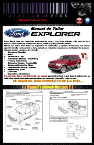 Ford Explorer 2002 2005 Manual De Taller Y Diagramas Español  $ 7900 en Mercado Libre