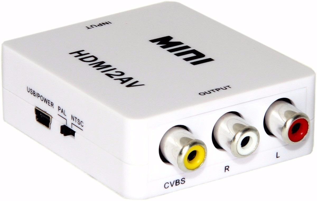 Adaptador Hdmi Para Rca Tv De Tubo 1080p 720p Com Cabo R