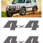 Kit Adesivos Emblema 4x4 Jimny 4x4 R 24 90 Em Mercado Livre